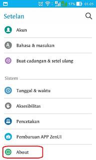 Memunculkan Opsi Pengembang pada Setelan Android