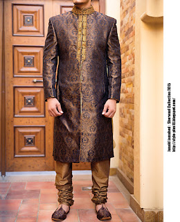 jjsw-438-copper-black-sherwani-collection-2015-by-junaid-jamshed