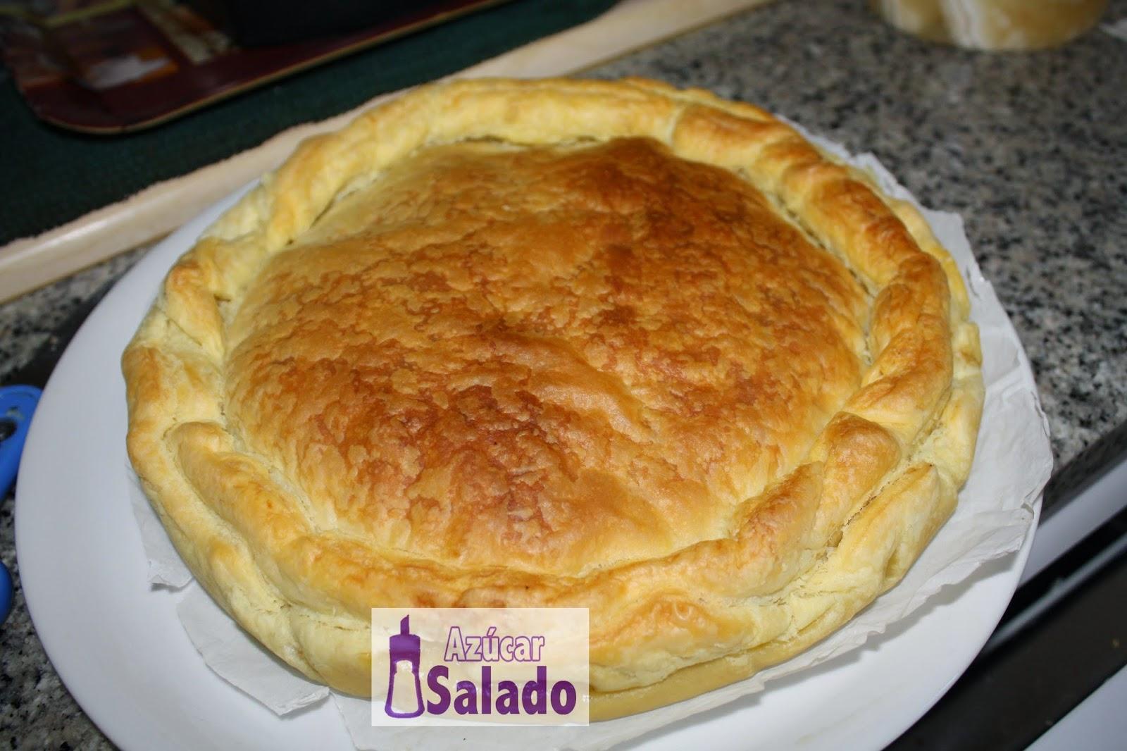 pastel salado de setas