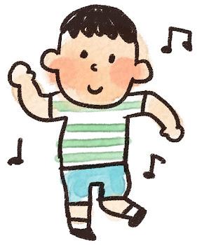 ダンスのイラスト「踊っている男の子」