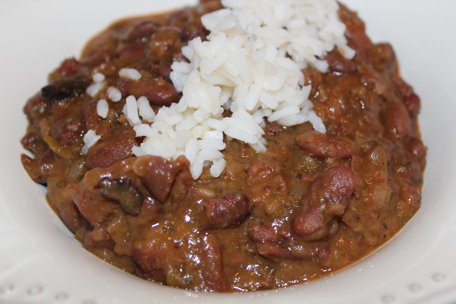 pinch of this... a dash of that: Real Cajun Red Beans and Rice