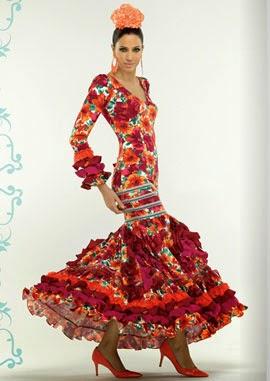 traje de flamenca estampado El Corte Inglés
