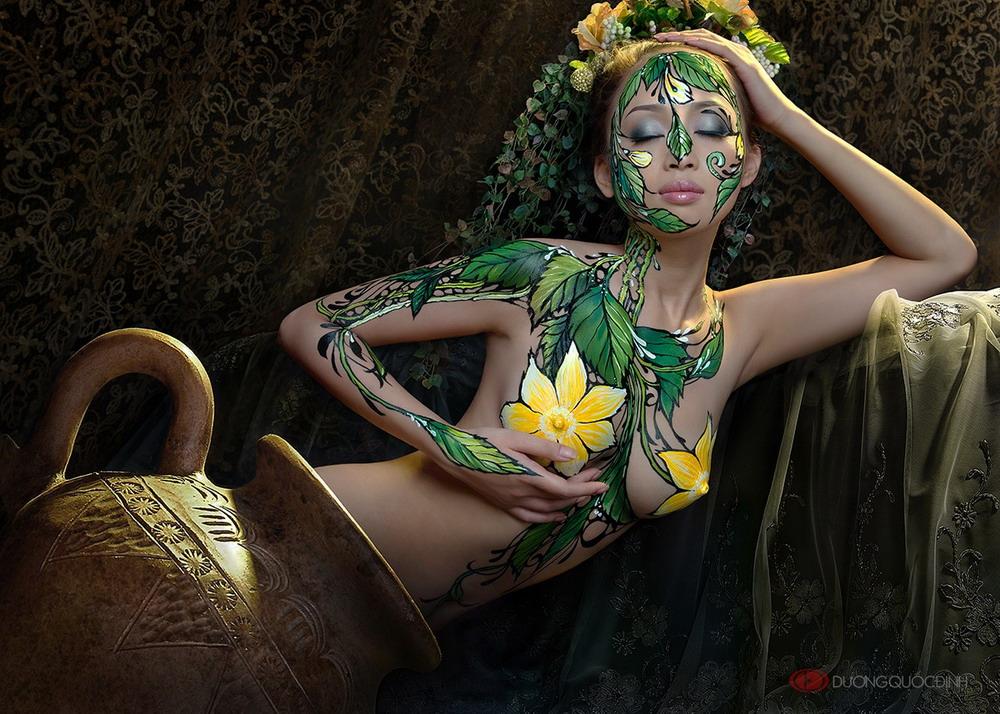 Ảnh gái đẹp sexy với body painting Phần 2 28