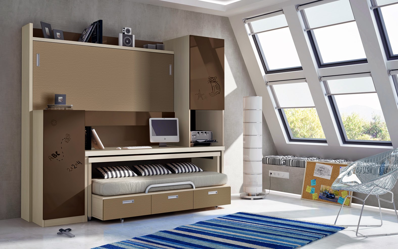 Muebles juveniles dormitorios infantiles y habitaciones - Habitaciones juveniles con encanto ...