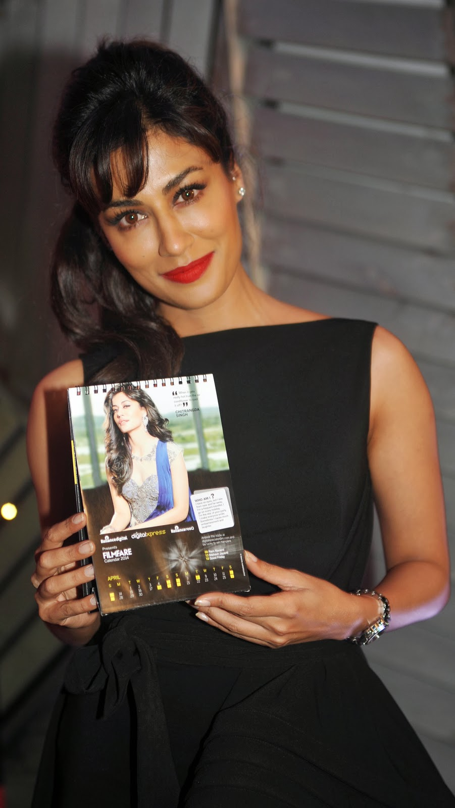 India, Bollywood, Film, Actress Chitrangda Singh, Launch, Reliance, Digital, Filmfare, Calendar,  Showbiz, Auriga Lounge, Mumbai, Movie,
