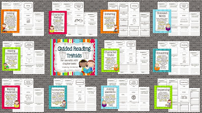 http://www.teacherspayteachers.com/Product/Guided-Reading-Trifolds-and-Strategy-Posters-For-Use-with-ANY-Chapter-Book-958201