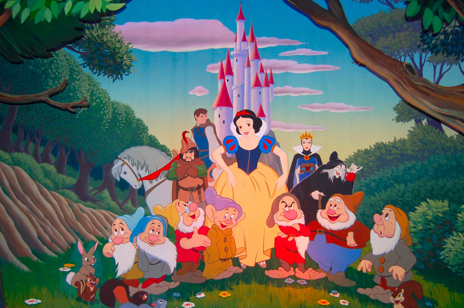 Filmic light snow white archive april 2011 for Disneyland mural