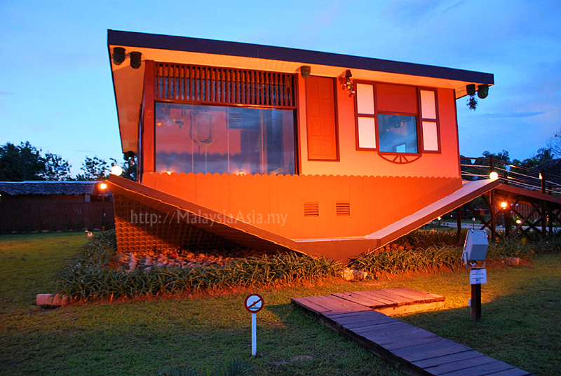 Upside down house in sabah malaysia asia The upside house