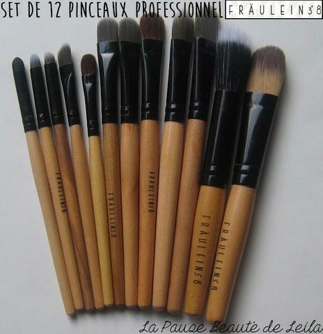 la pause beaut de leila revue pinceaux maquillage petit prix fraulein 3 8. Black Bedroom Furniture Sets. Home Design Ideas