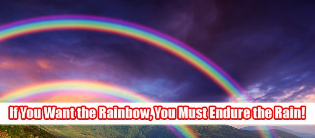If you want the Rainbow, you must endure the Rain