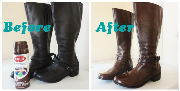 The Lovely Side Diy Spray Painting Leather Boots