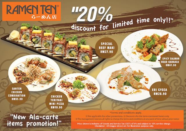 New Ala-Carte Promotion @ Ramen Ten Jaya 33 Petaling Jaya