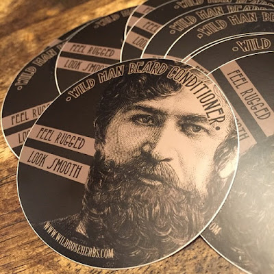 Wild Man Beard Stickers