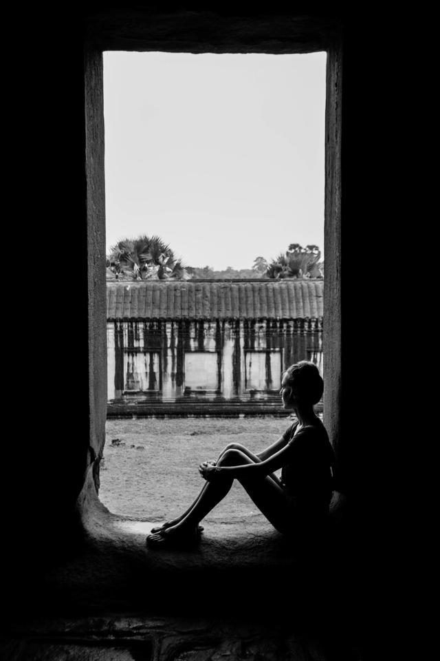 Silhouette at Angkor Wat