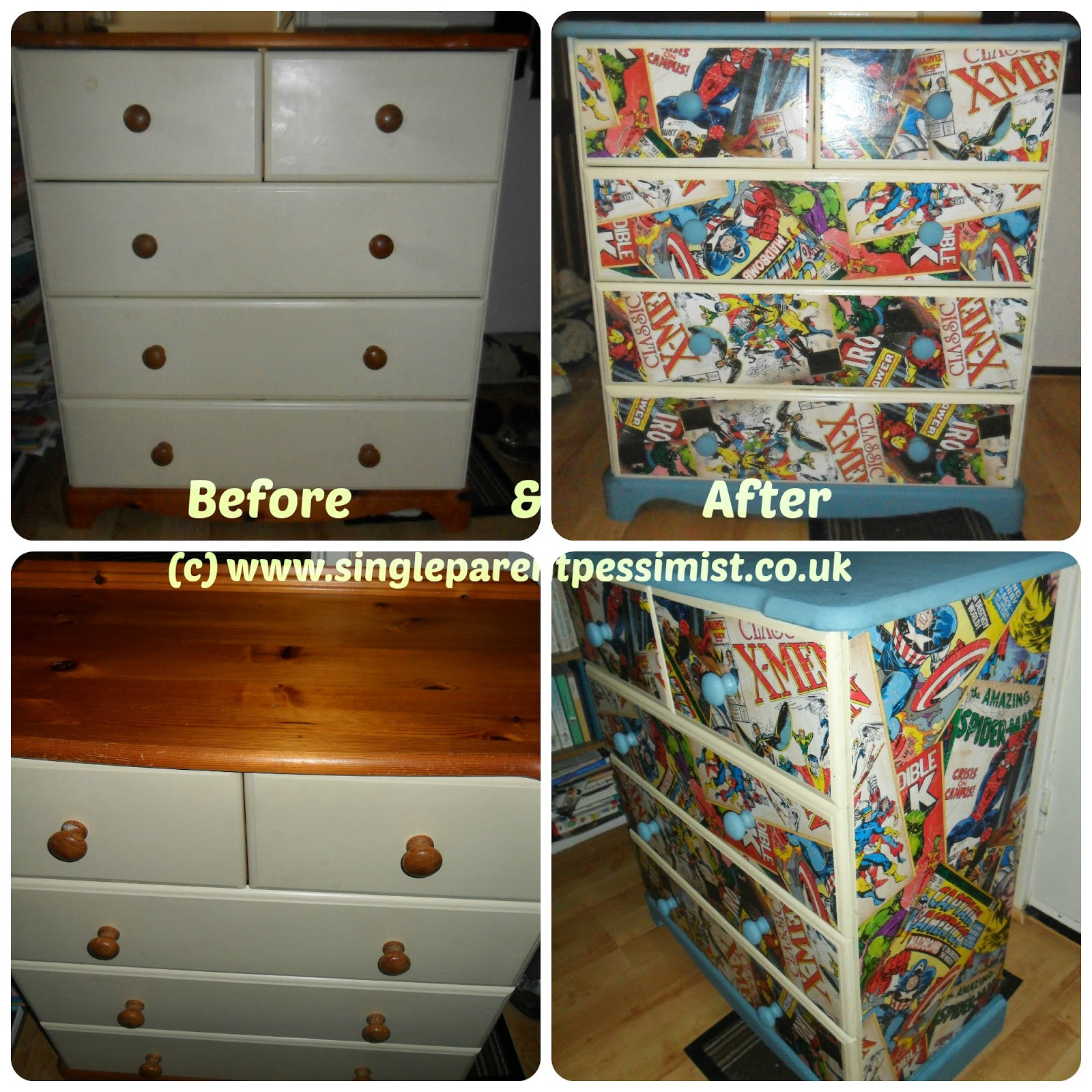 Confessions of a Single Parent Pessimist: DIY/ UPCYCLING: Chunku0026#39;s Chest of Drawers