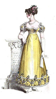 Ball dress  from La Belle Assemblée (Mar 1823)
