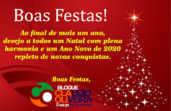 BOAS FESTAS E UM FELIZ 2020!