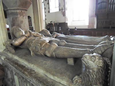 Inside St Dudricius church Somerset