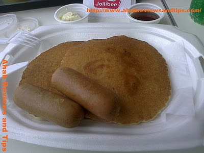 Jollibee menu: Chicken sausage with pancake