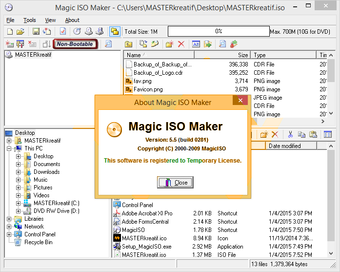 MagicISO 5.5 Build 281 Full Serial