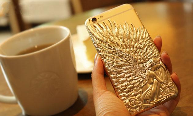 เคส bumper รุ่น angel wing สำหรับ iPhone 6 Plus สีทอง