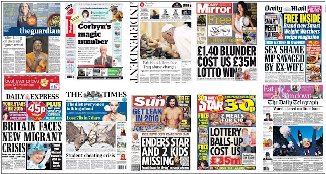 Jan 2 front pages