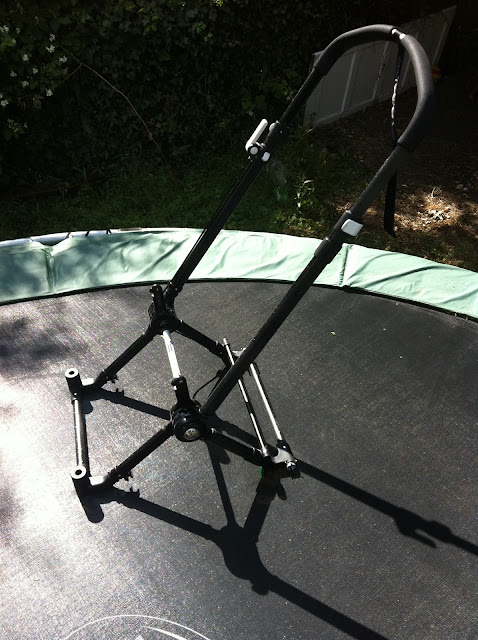 Spray Painted Glitter Bugaboo Cameleon 2nd Generation Chassis Frame