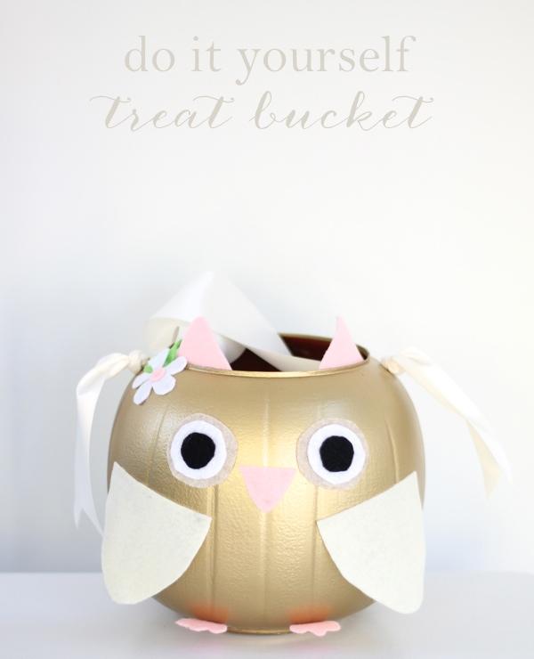 Do It Yourself Halloween Treat Bucket