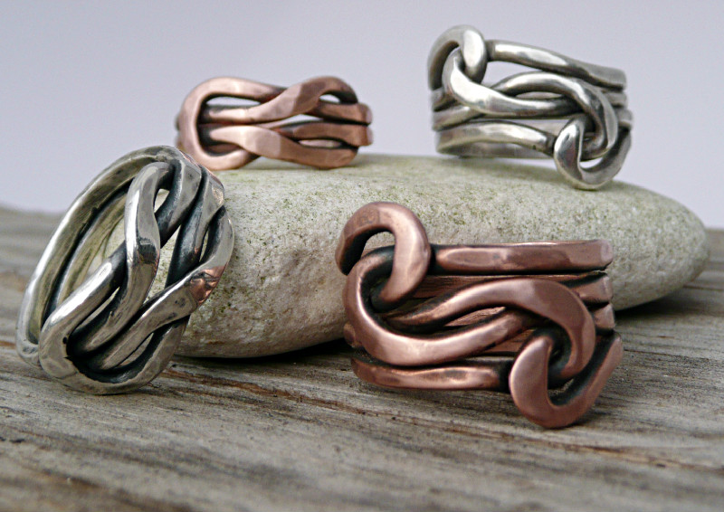 Forged Knot Ring Collection | Handmade Jewelry by LjB