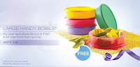 Tupperware Large Handy Bowls 4+1