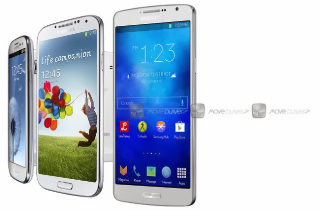 Samsung Galaxy S5 render image pops up