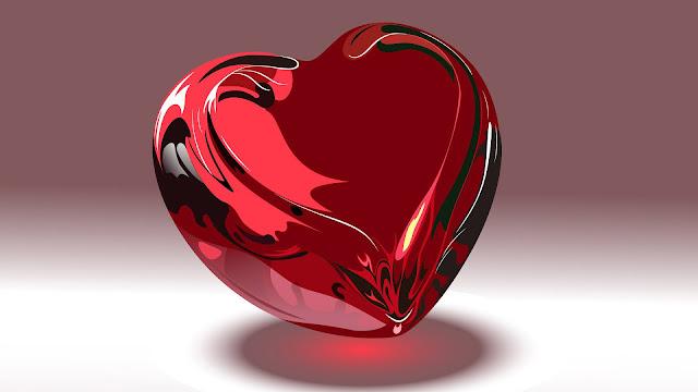 Foto met een groot liefdes hartje