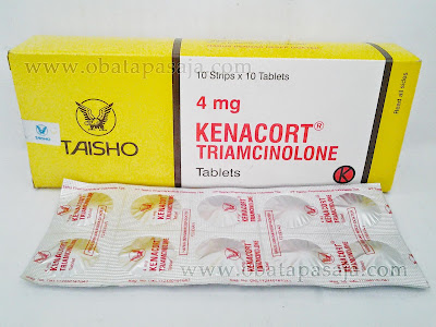 Komposisi Dosis dan Harga Kenacort Tablet (Triamcinolone)