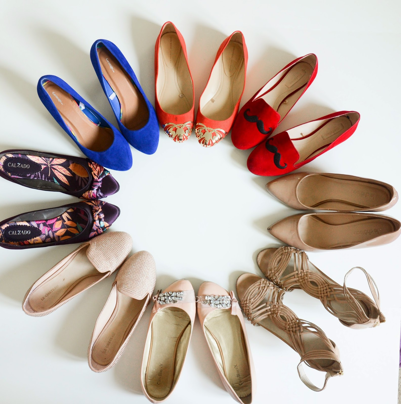 Shoes galore waiting for spring - ninewest, townshoes, le chaeau, zara