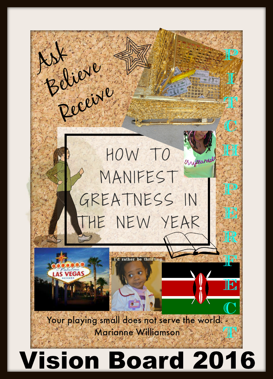 manifest greatness and achieve goals with vision board