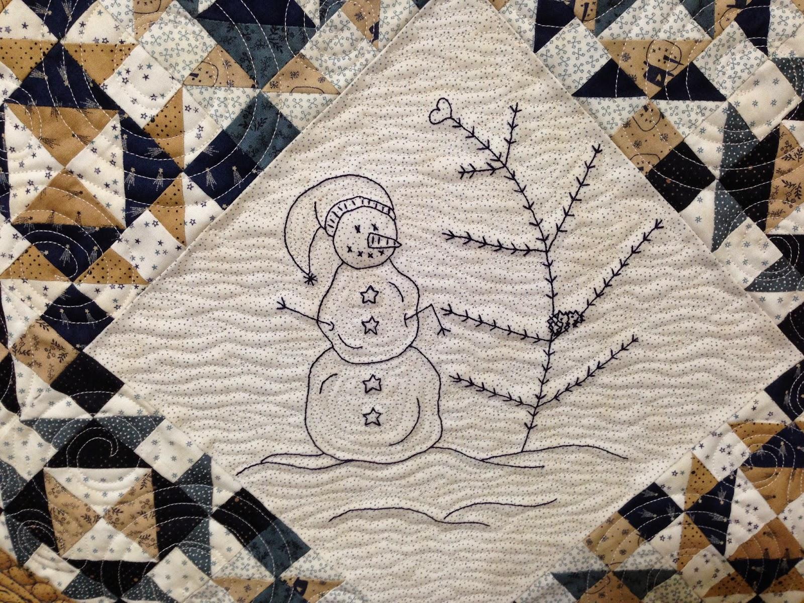 B & B Quilt Shop Snowman Quilt