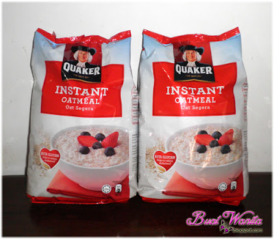Instant oatmeal quaker oat. Khasiat Oat. Jom Sihat Dengan Amalkan Makan Oat. Makan Oatmeal Dengan Buah-Buahan