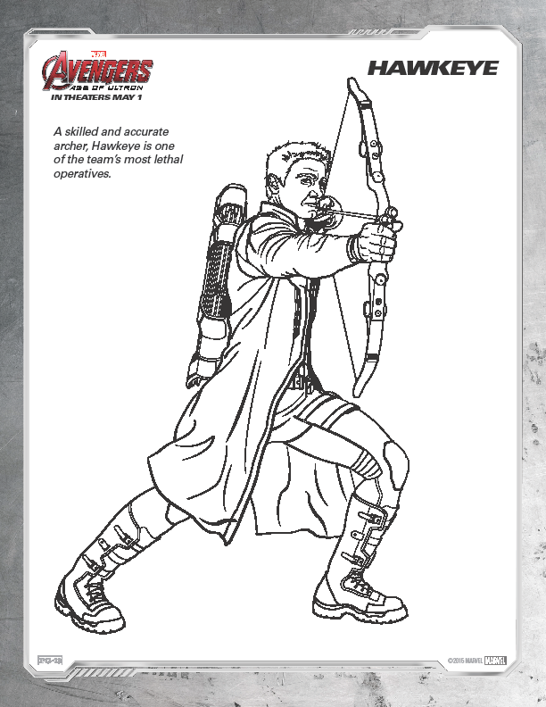 The art of random willy nillyness marvel avengers age of for Marvel hawkeye coloring pages