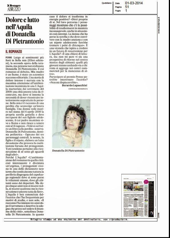 Articolo de Il Messaggero