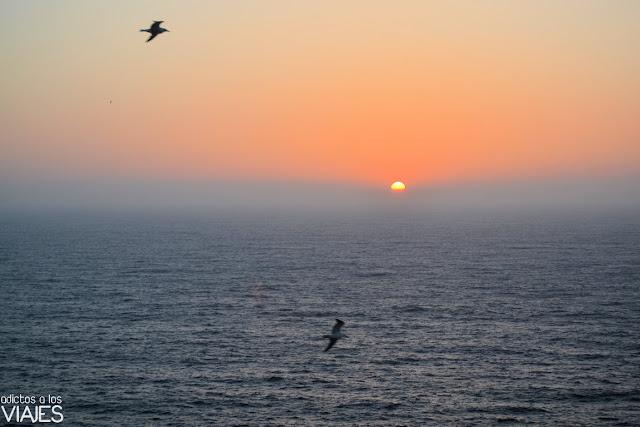 Puesta de sol en el cabo de San Vicente