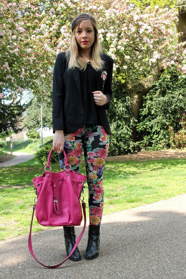 Pantalon Legging Fleurs