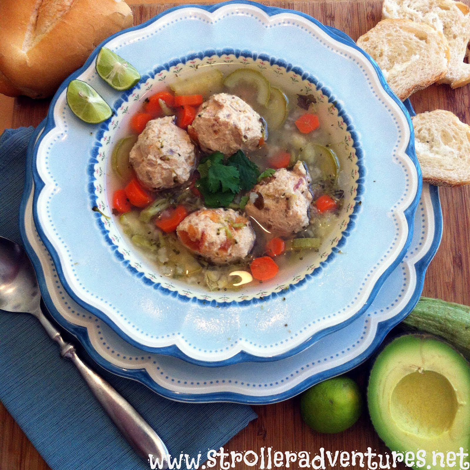 Stroller Adventures: Mexican Meatball Soup