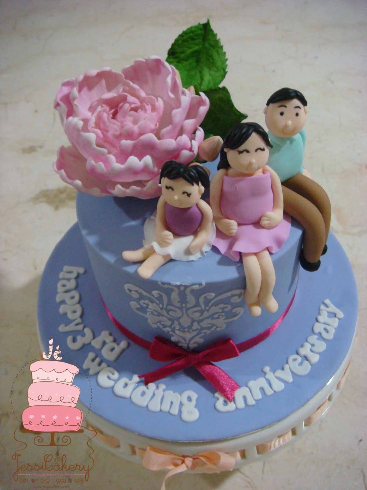 jessicakery: wedding anniversary cake
