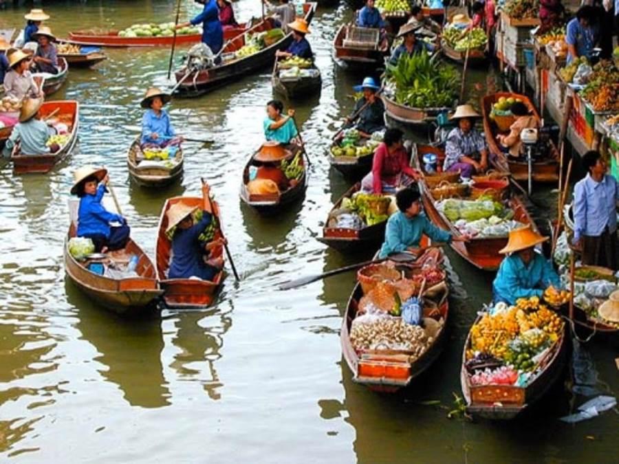 Floating Market of Thailand