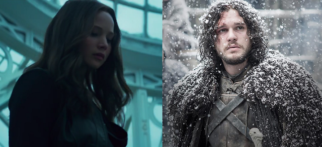 hunger games game of thrones katniss everdeen jon snow mashup mockingjay part 2 trailer