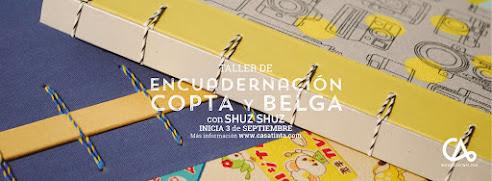 ENCUADERNACIÓN COPTA Y BELGA // 3 de sept