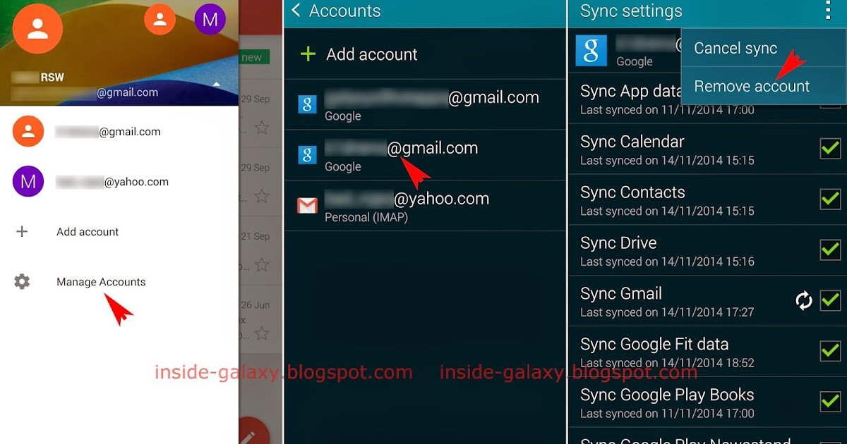 delete google account from gmail