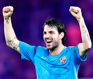 Wallpaper Fabregas on Cesc Fabregas Hairstyle And Tattoo 2012 Wallpaper Jpg