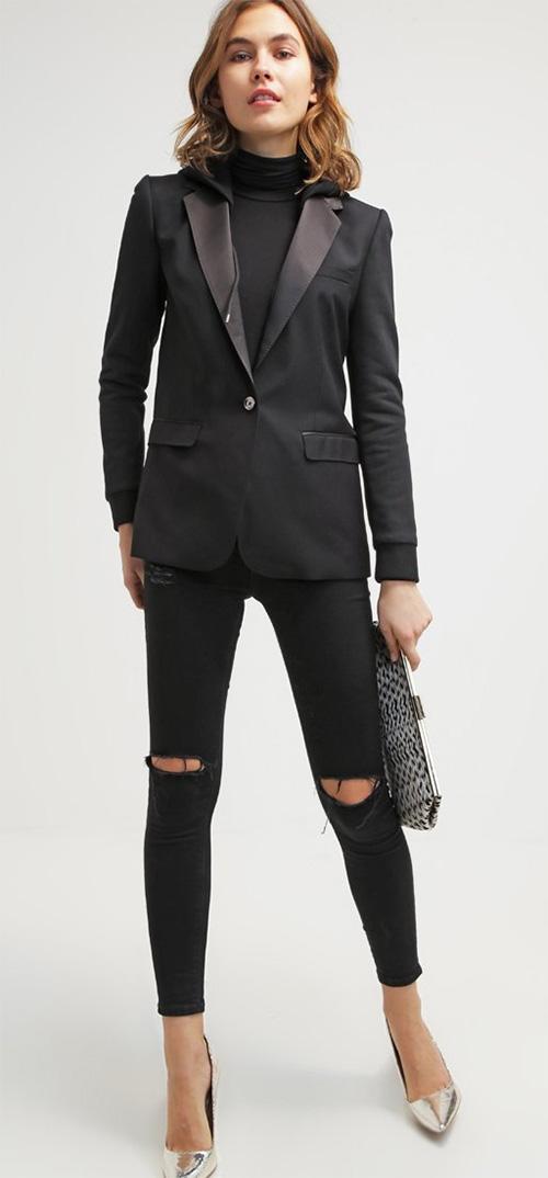 Veste blazer femme noir Diesel
