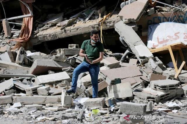 Mencekam, Pesawat Tempur Israel Menggempur 2 Lokasi Militer Palestina   LihatSaja.com
